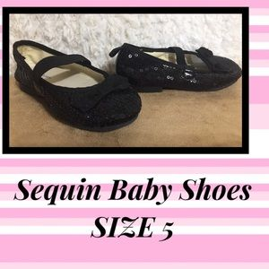 🔥5 for $10🔥 Faded Glory Sequin Baby Shoes Sz 5